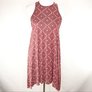 Anthropologie ecote Rust Red Racer Swing Dress XS